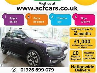 2014 PURPLE CITROEN C4 CACTUS 1.6 BLUEHDI 100 FLAIR DIESEL CAR FINANCE FR £27 PW