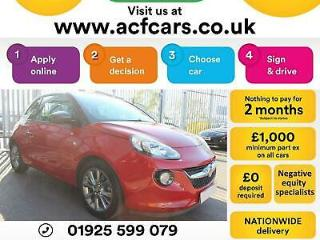 2014 RED VAUXHALL ADAM 1.2 VVT 70 JAM PETROL 3DR HATCH CAR FINANCE FR £25 PW