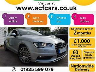 2014 SILVER AUDI A3 SALOON 2.0 TDI 150 SPORT DIESEL MANUAL CAR FINANCE FR £44 PW