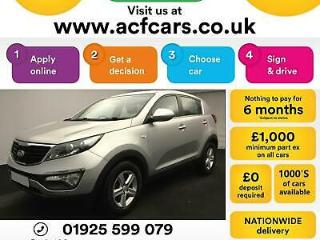2014 SILVER KIA SPORTAGE 1.7 CRDI 1 DIESEL MANUAL ESTATE CAR FINANCE FR £29 PW