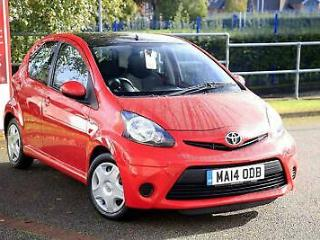 2014 Toyota Aygo 1.0 VVT i Move 5dr Petrol red Manual