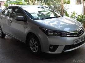 Silver 2014 Toyota Corolla Altis 1.8 G AT 37,000 kms driven in Ariyankuppam
