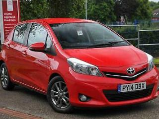 2014 Toyota Yaris 1.4 D 4D Icon Plus Diesel red Manual