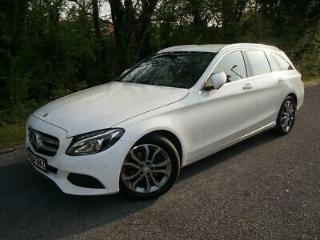 2015 64 MERCEDES C220 CDI SPORT ESTATE AUTOMATIC 2.1 DIESEL BLUETEC POLAR WHITE