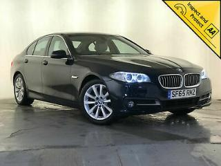 2015 65 BMW 518D SE AUTO SAT NAV CREAM HEATED LEATHER SEATS 1 OWNER SVC HISTORY