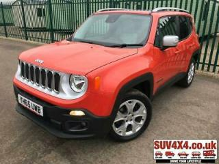 2015 65 JEEP RENEGADE 2.0 M JET LIMITED 5D 138 BHP ALLOYS NAV PAN ROOF LEATHER P