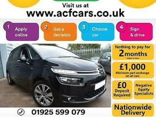2015 BLACK CITROEN C4 GRAND PICASSO 1.6 E HDI EXCLUSIVE + CAR FINANCE FR £44 PW