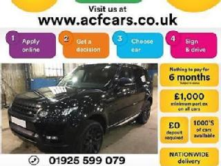 2015 BLACK RANGE ROVER SPORT 3.0 SDV6 HSE DYNAMIC CAR FINANCE FR £180 PW