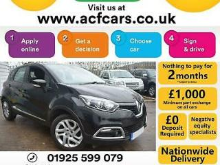 2015 BLACK RENAULT CAPTUR 0.9 TCE DYNAMIQUE NAV PETROL CAR FINANCE FR £42 PW