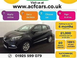 2015 BLACK RENAULT CAPTUR 1.5 DCI 90 DYNAMIQUE DIESEL CAR FINANCE FR £29 PW