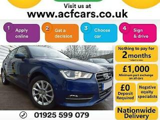 2015 BLUE AUDI A3 SPORTBACK 1.4 TFSI 150 SE PETROL 5DR CAR FINANCE FR £58 PW