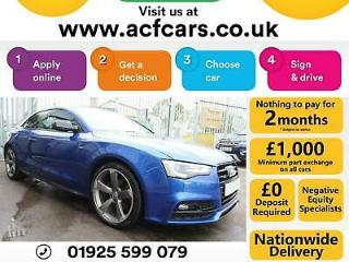 2015 BLUE AUDI A5 2.0 TDI 190 QUATTRO BLACK EDITION PLUS CAR FINANCE FR £63 PW