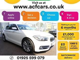 BMW 1 Series 118d SPORT CAR FINANCE FR £42 PW Hatchback 2015, 56000 miles, £8990