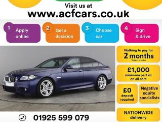 BMW 5 Series 530d M SPORT CAR FINANCE FR £71 PW Auto Saloon 2015, 45000 miles, £15990