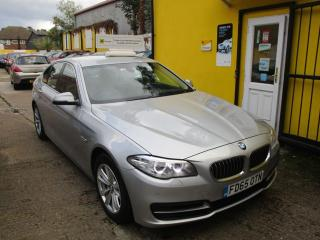 BMW 5 Series 518d [150] SE 4dr Full Leather Sat Nav Bluetooth Saloon 2015, 80000 miles, £10490