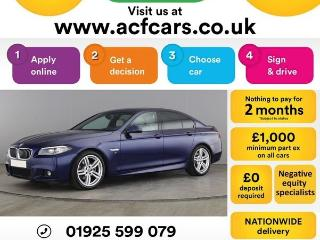 BMW 5 Series 520d M SPORT CAR FINANCE FR £63 PW Auto Saloon 2015, 48000 miles, £13990
