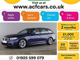 BMW 5 Series 530d M SPORT TOURING CAR FINANCE FR £83 PW Auto Estate 2015, 60000 miles, £15990