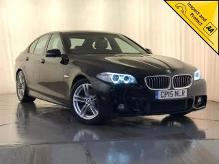 BMW 5 Series 2.0 520d M Sport 4dr 1 OWNER SAT NAV £30 ROAD TAX 2015, 42870 miles, £14000