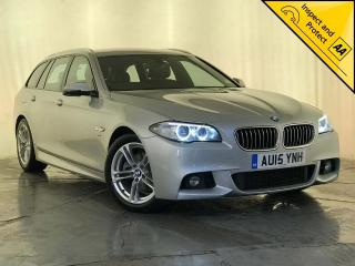 BMW 5 Series 2.0 520d M Sport Touring 5dr CRUISE CONTROL PARKING SENSORS 2015, 91790 miles, £12295