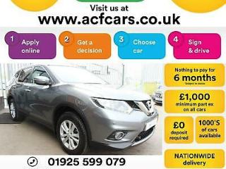 2015 GREY NISSAN X TRAIL 1.6 DCI 130 N TEC 5 SEAT DIESEL CAR FINANCE FR £63 PW