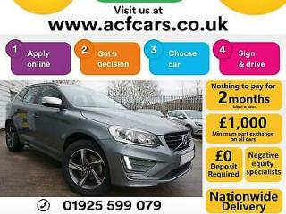 2015 GREY VOLVO XC60 2.0 D4 R DESIGN DIESEL MANUAL ESTATE CAR FINANCE FR £75 PW
