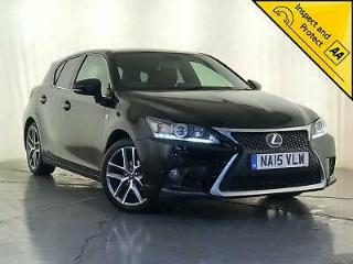 2015 LEXUS CT200 HYBRID F SPORT AUTOMATIC SAT NAV 1 OWNER SERVICE HISTORY