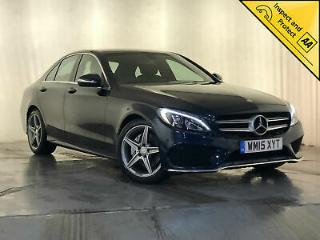 2015 MERCEDES BENZ C200 AMG LINE REVERSING CAMERA SAT NAV HEATED SEATS 1 OWNER