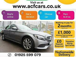2015 SILVER MERCEDES C200 2.0 SPORT PETROL AUTO SALOON CAR FINANCE FR £65 PW