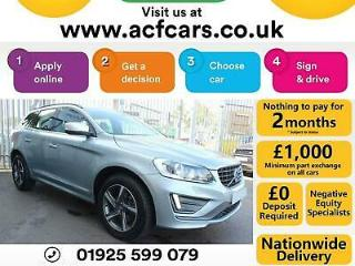 2015 SILVER VOLVO XC60 2.4 D5 R DESIGN AWD DIESEL AUTO CAR FINANCE FR £67 PW