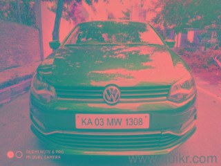 Blue 2015 Volkswagen Polo Highline1.2L P 35000 kms driven in Domlur
