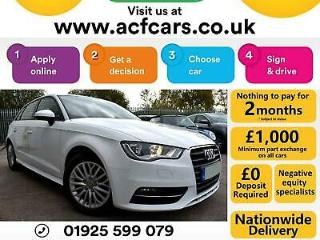 2015 WHITE AUDI A3 SPORTBACK 1.6 TDI 110 SE TECHNIK 5DR CAR FINANCE FR £42 PW