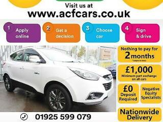 2015 WHITE HYUNDAI IX35 1.7 CRDI BLUEDRIVE SE DIESEL ESTATE CAR FINANCE FR £40PW