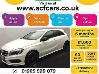 2015 WHITE MERCEDES A180 1.5 CDI AMG SPORT DIESEL MANUAL CAR FINANCE FR £54 PW
