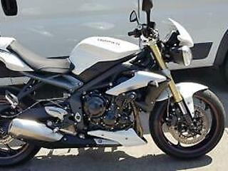 2016 16 TRIUMPH STREET TRIPLE ABS, 5k MILES ONLY! MINT, WHITE, FSH, HPI CLEAR