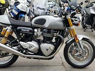2016 16 TRIUMPH THRUXTON 1200 R, 1200R, 2k MILES, 1 OWNER FROM NEW, FSH