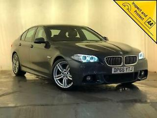 2016 66 BMW 520D M SPORT AUTO LEATHER HEATED SEATS SAT NAV 1 OWNER SVC HISTORY