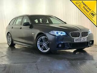 2016 66 BMW 520D M SPORT ESTATE NAV HEATED LEATHER SEATS 1 OWNER SVC HISTORY