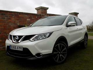 2016 '66' Nissan Qashqai 1.5dCi Glass Roof Tekna WHITE 31'000 MILES