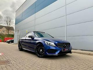 2016 66 reg Mercedes Benz C200 2.0 Premium AMG Line + Blue + PANORAMIC ROOF