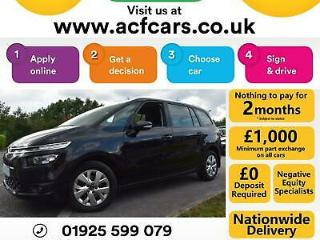 2016 BLACK CITROEN C4 GRAND PICASSO 1.6 BLUEHDI VTR + MPV CAR FINANCE FR £40 PW