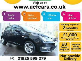 2016 BLACK SEAT IBIZA 1.2 TSI 110 FR PETROL 5DR HATCH CAR FINANCE FR £46 PW