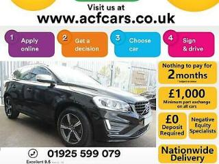2016 BLACK VOLVO XC60 2.4 D4 R DESIGN NAV DIESEL ESTATE CAR FINANCE FR £67 PW