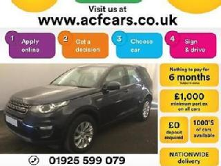 2016 BLUE LAND ROVER DISCOVERY SPORT 2.0 TD4 180 SE TECH CAR FINANCE FR £96 PW
