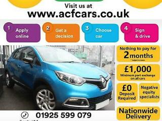 2016 BLUE RENAULT CAPTUR 1.5 DCI DYNAMIQUE NAV DIESEL CAR FINANCE FR £44 PW