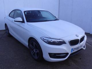 BMW 2 Series 218i Sport 2dr [Nav] Step Auto Coupe 2016, 76514 miles, £11979