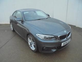 BMW 2 Series 218d [150] M Sport 2dr Coupe 2016, 56953 miles, £12776