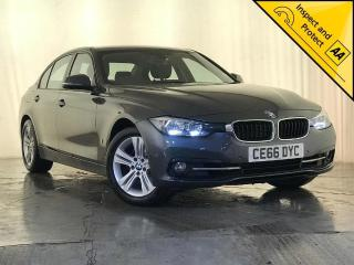 BMW 3 Series 2.0 330e 7.6kWh Sport Auto s/s 4dr 1 OWNER SERVICE HISTORY 2016, 70950 miles, £14295