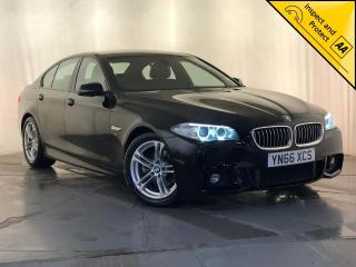 BMW 5 Series 2.0 520d M Sport 4dr SAT NAV, HEATED SEATS, 1 OWNER 2016, 77760 miles, £13295