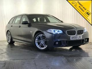 BMW 5 Series 2.0 520d M Sport Touring 5dr NAV ESTATE 1 OWNER SVC HISTORY 2016, 73270 miles, £13795