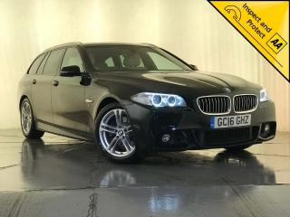BMW 5 Series 2.0 520d M Sport Touring 5dr 1 OWNER SERVICE HISTORY 2016, 80250 miles, £13295